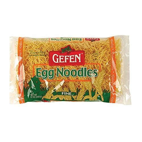 Gefen Enriched Egg Noodles Fine 12 Oz. Pack Of 3.