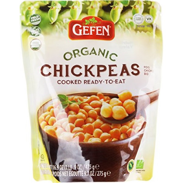 Gefen, Organic Chickpeas, Cooked, Ready to Eat! 16.9oz 3 Pack ...