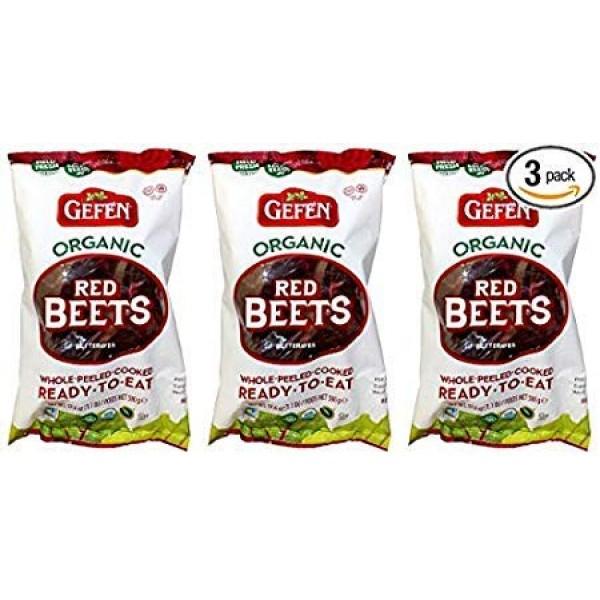 Gefen Organic Whole Peeled Cooked Beets - 3pk - 1lb ea 3lb