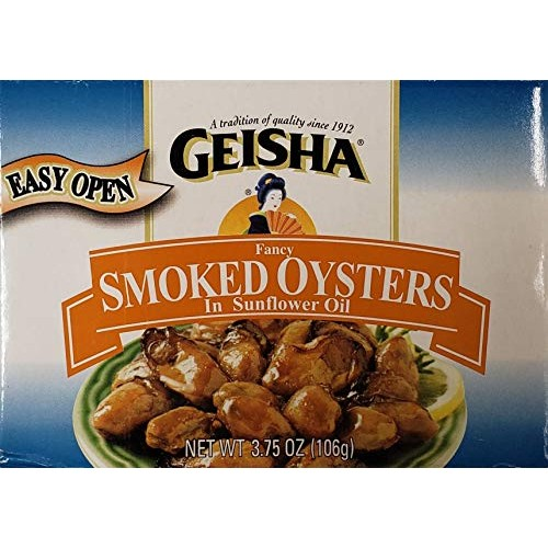 Geisha Fancy Smoked Oysters In Cottonseed Oil 3.75 Oz Cans