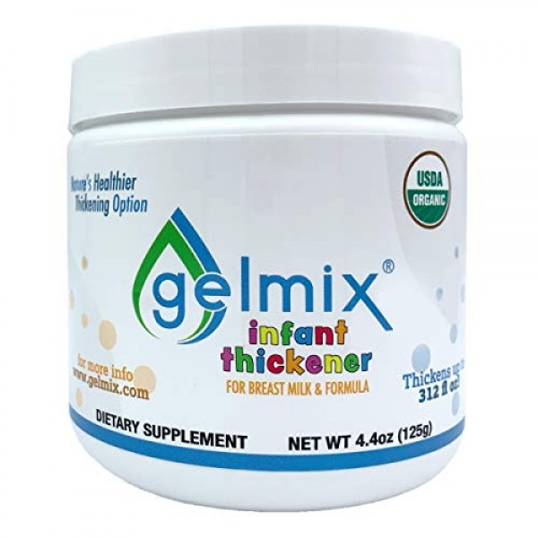 USDA Organic Gelmix Infant Thickener for Breast Milk and Formula...