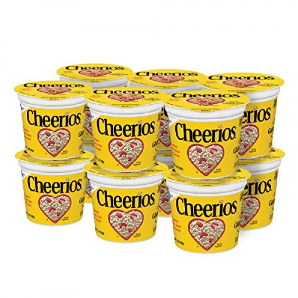Cheerios Breakfast Cereal Cup, Toasted Whole Grain Oat Cereal, 1...