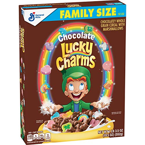 Chocolate Lucky Charms, Marshmallow Cereal with Unicorns, Whole ...