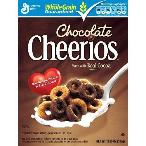 Cheerios Chocolate Cereal, 11.25-ounce Box Pack of 2