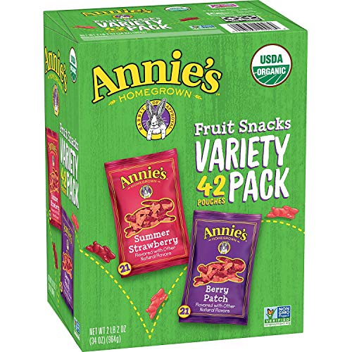 Expect More Annies Organic Fruit Snack Variety Pack 0.8 oz, 42...