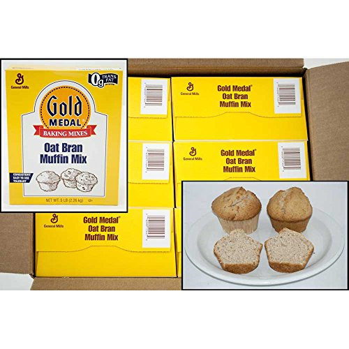 Gold Medal Oat Bran Muffin Mix 6 Case 5 Pound