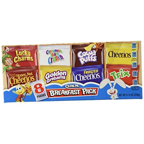 General Mills, Assorted Breakfast Cereal Pouches, 8 Count, 9.14o...