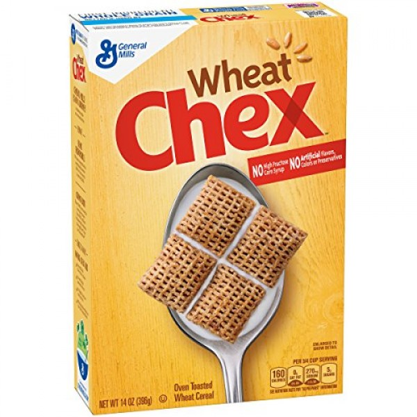 General Mills Cereal, Wheat Chex, 14 Oz