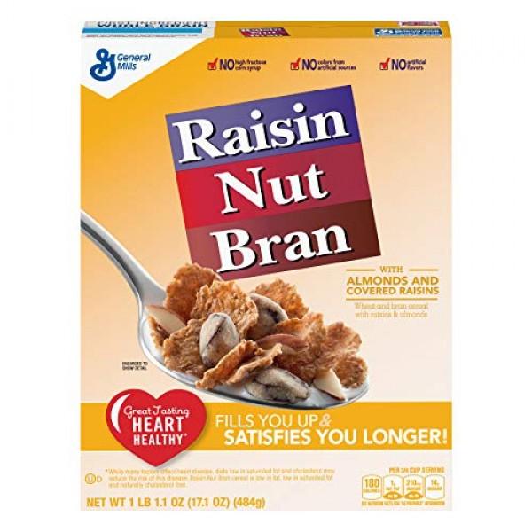 General Mills Raisin Nut Bran Cereal, 17.1 oz Pack of 4