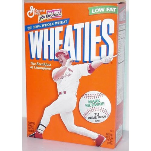 1998 Mark McGwire 70 HRs Wheaties Cereal