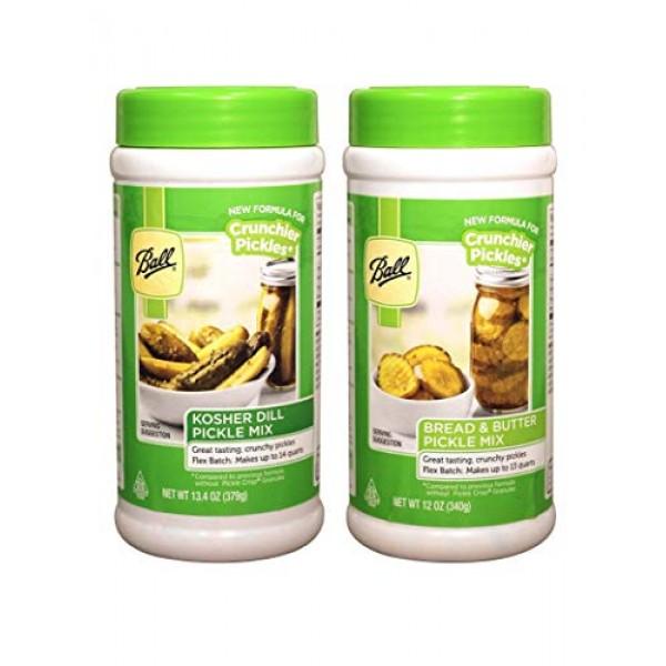 2 Pack: Ball Flex-Batch Kosher Dill Pickle Mix 13.4 oz and Bal...