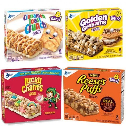 Cereal Bar Variety Pack- Lucky Charms, Cinnamon Toast Crunch, Re...