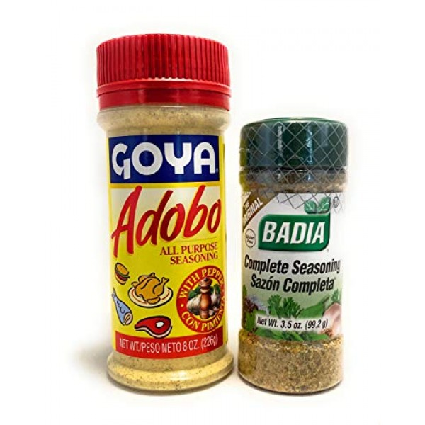 Goya Adobo All Purpose Seasoning and Badia Complete Seasoning Bu...