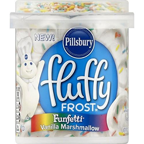 Pillsbury Funfetti Vanilla Flavored Fluffy Frosting Marshmallow,...