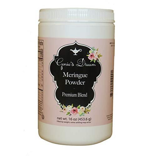 Genies Dream Premium Meringue Powder, 16 oz 1 lb jar