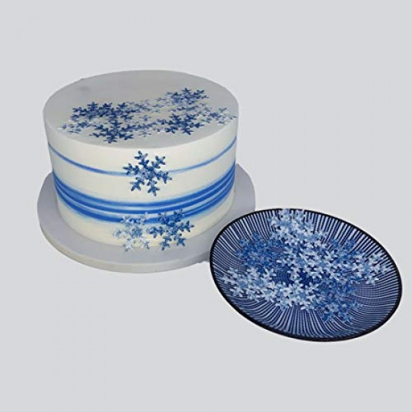 GEORLD 36Pcs Edible Wafer Snowflakes Cake Topper Cupcake Toppers...