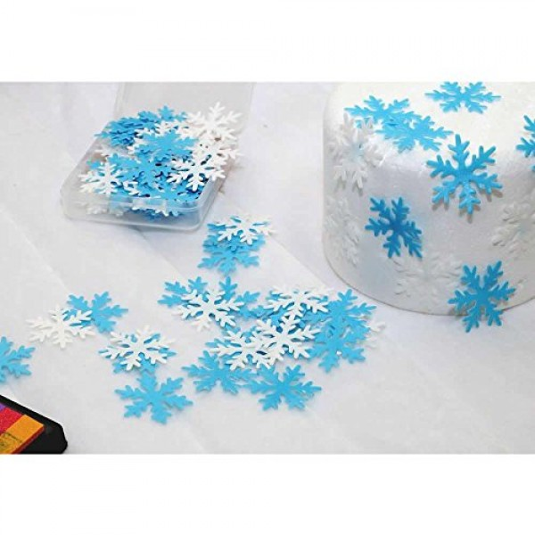 GEORLD Set of 48 Edible Snowflakes Cupcake & Cake Toppers Christ...