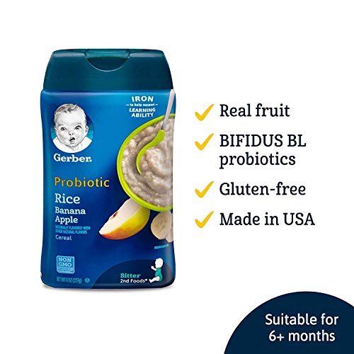 Gerber Baby Cereal Probiotic Oatmeal Baby Cereal, 8 Ounce Probi...