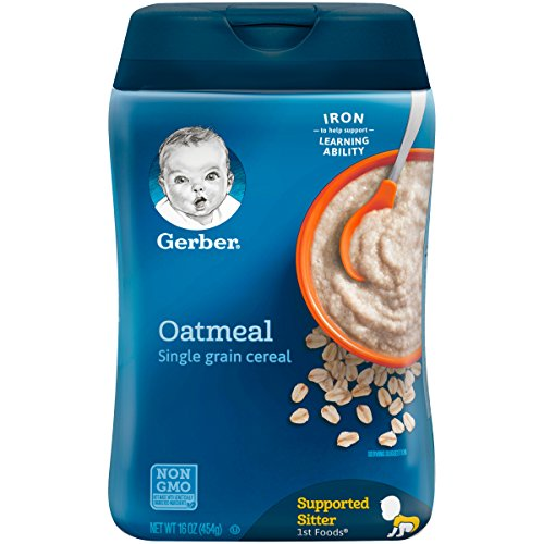Gerber Single-Grain Oatmeal Baby Cereal, 16 Ounce Pack of 6