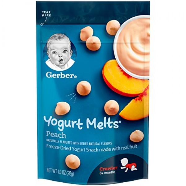 Gerber Fruit and Veggie Melts, Truly Tropical Blend, 1 Ounce Pa...