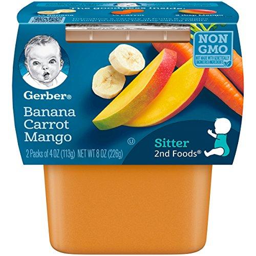Gerber 2nd Foods Banana, Carrot & Mango Pureed Baby Food, 4 Ounc...