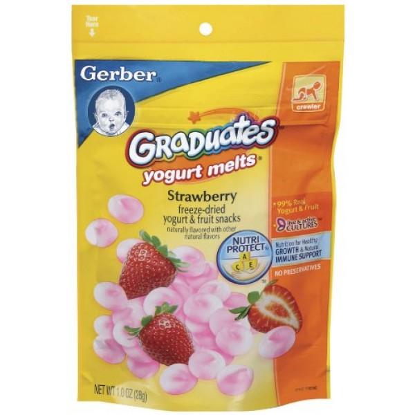 Gerber Graduates Yogurt Melts, Strawberry, 1-Ounce Pouches Pack...