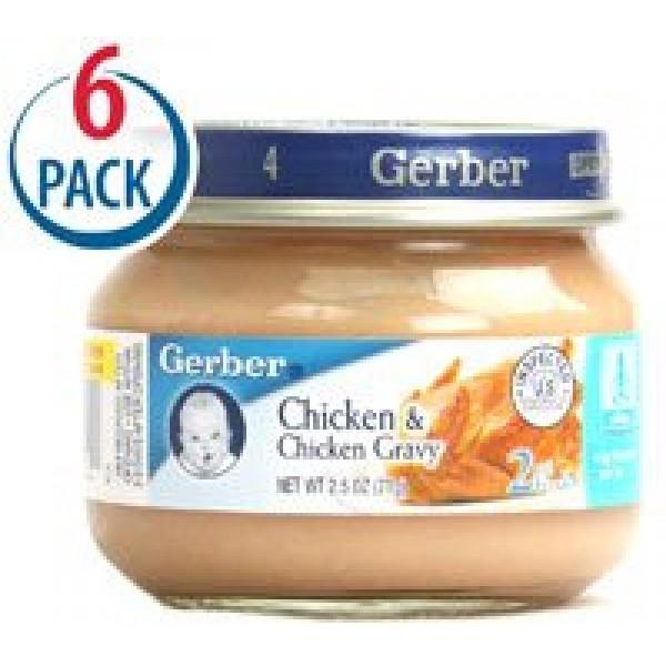 Gerber 2nd Foods Chicken and Chicken Gravy -- 2.5 oz Each / Pack...