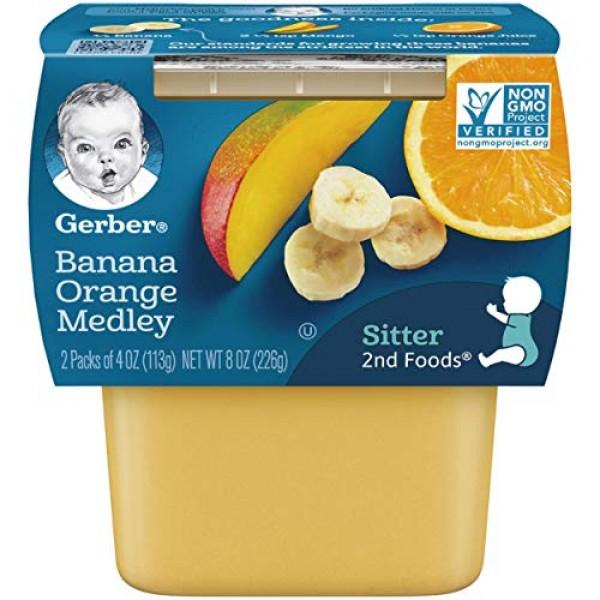 Gerber 2nd Foods Fruits - Banana Orange Medley - 4 oz - 2 ct - 8...