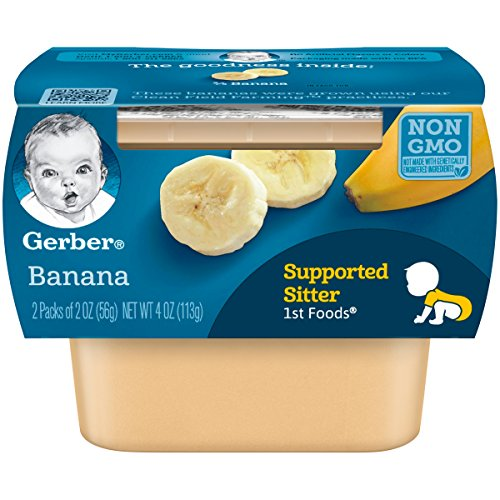 Gerber 1st Foods, Banana Pureed Baby Food, 2 Ounce Tubs, 2 Count...