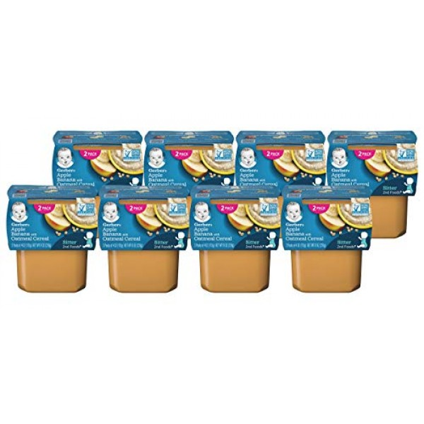Gerber 2nd Foods Apple Banana with Oatmeal Cereal Pack of 8