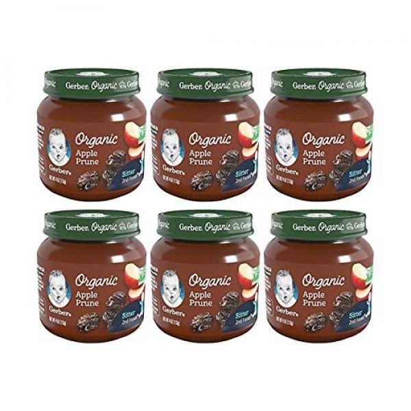 Gerber 2nd Foods Baby Food Jars, Organic Apple Prune, 4 Ounce, P...