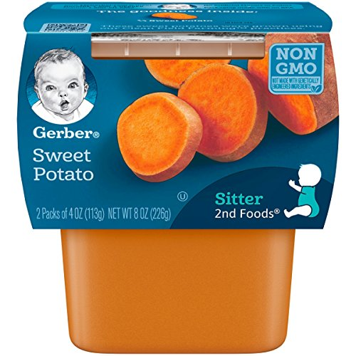 Gerber 2nd Foods Sweet Potatoes, 4 Ounce Tubs, 2 Count Pack of 8