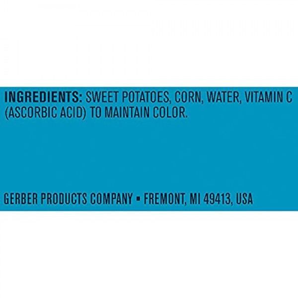 Gerber 2nd Foods Sweet Potatoes & Corn, 2 Count of 4 oz Tubs Eac...