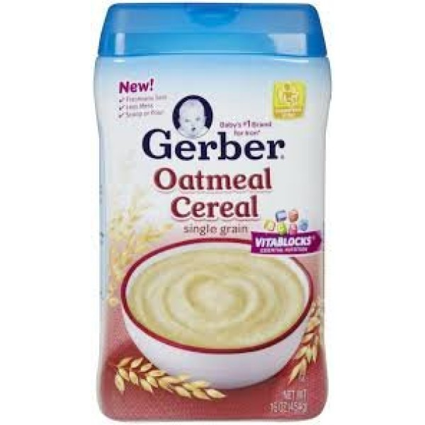 Gerber Single Grain OATMEAL CEREAL 16oz Pack of 3