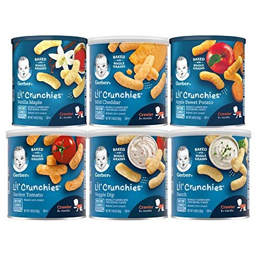 Gerber Graduates Lil Crunchies, Variety Pack, 1.48-Ounce Canist...