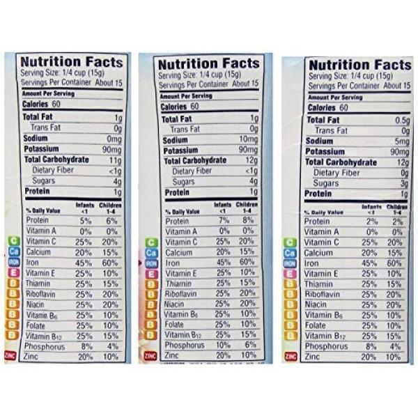 Gerber Baby Cereal 3 Flavor Variety Bundle: 2 Gerber Oatmeal &...