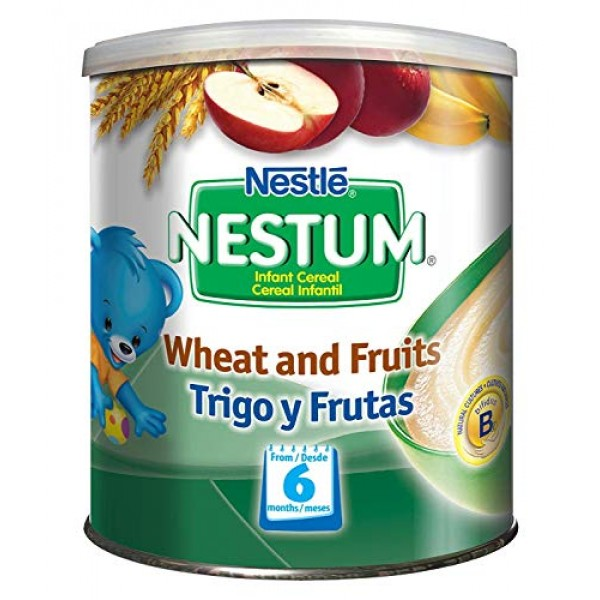 Gerber Baby Cereal Nestle Nestum Wheat and Fruits, 3 Count