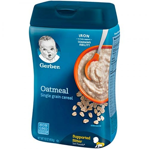 Gerber Baby Cereal, Oatmeal, 8 Ounce
