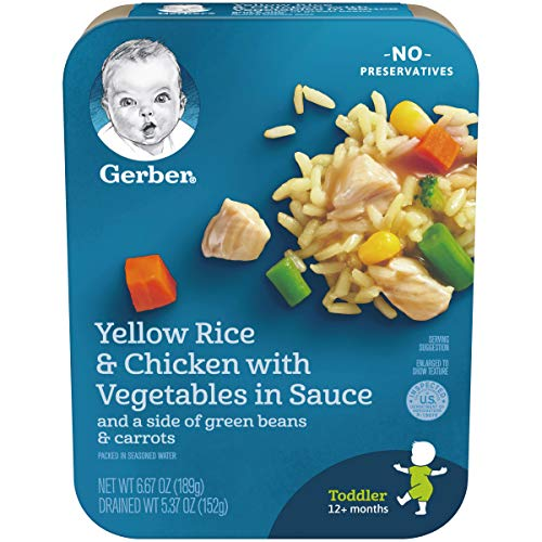 Gerber Graduates Lil Entrees Yellow Rice with Chicken Vegetables...