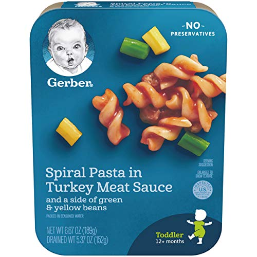 Gerber Graduates Lil Entrees Spiral Pasta with Turkey Meat Sauce...