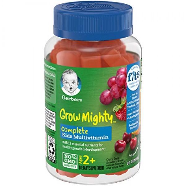 Gerber Grow Mighty Complete Kids Gummy Multivitamin: Vitamins A,...