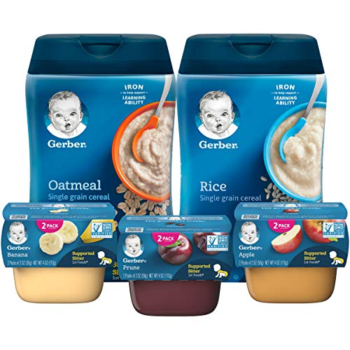 Gerber Purees 1st Foods & Single Grain Cereal Assorted Variety P...