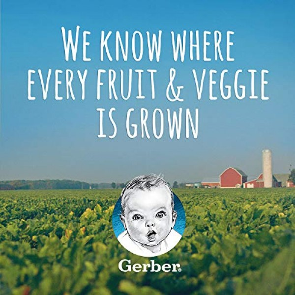 Gerber Purees 2nd Foods, Pear, Parsnip & Blueberry, 4 Ounce Tubs...