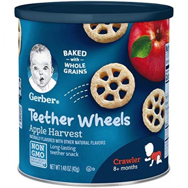 Gerber Teether Wheels, Apple Harvest, 1.48 Ounce Pack of 6