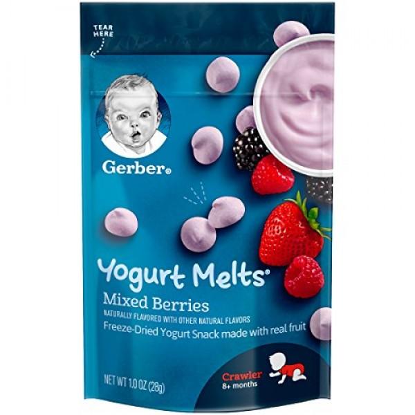 Gerber Yogurt Melts Freeze-Dried Yogurt Snack made with real fru...