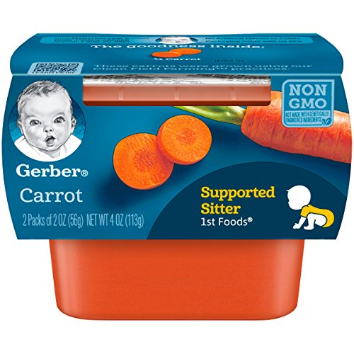 Gerber Purees 1st Foods Carrot Tubs (Pack of 8)