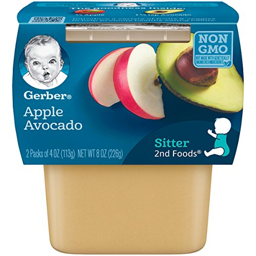 Gerber Purees 2nd Foods Apple Avocado Baby Food Tubs Pack of 8