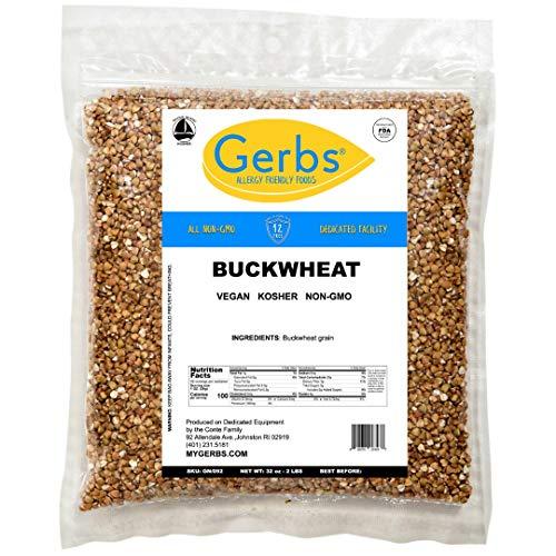 GERBS Buckwheat Grout Grain, 32 ounce Bag, Top 14 Food Allergen ...