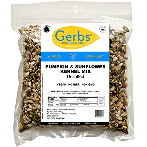 Gerbs Unsalted Pumpkin & Sunflower Seed Mix, 2 LBS. - Top 14 Foo...