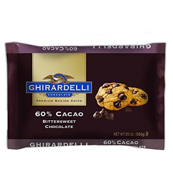 Ghirardelli 60% Cacao Bittersweet Chocolate Premium Baking Chips...